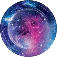 Contient : 1 x 8 Assiettes Galaxie