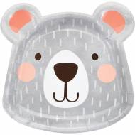 8 Assiettes Tête Baby Ours