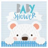 16 Serviettes Baby Shower Baby Ours