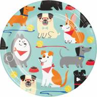 8 Petites Assiettes Dog Party