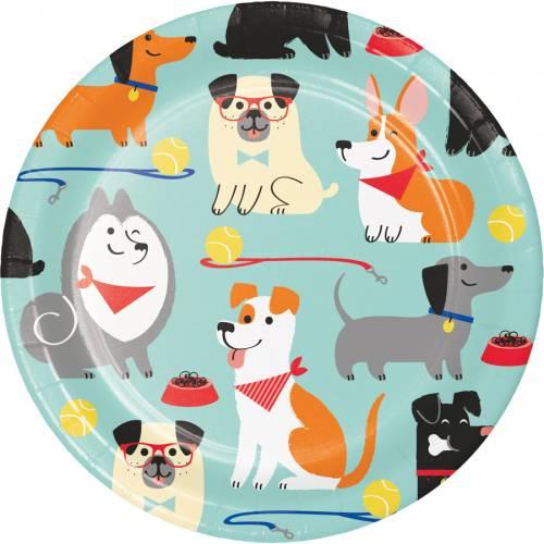 8 Petites Assiettes Dog Party