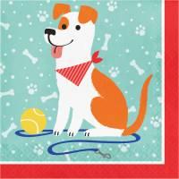 Contient : 1 x 16 Serviettes Dog Party
