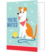 8 Invitations Dog Party