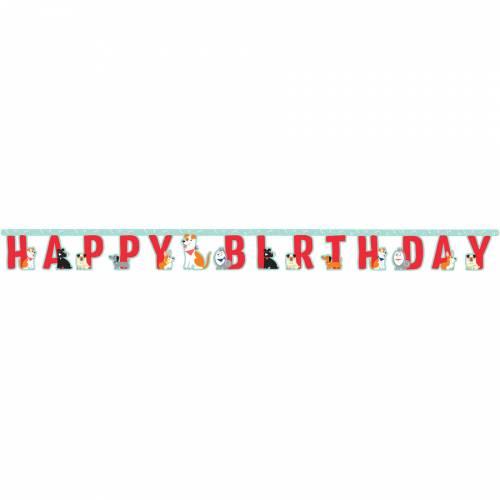 Guirlande Happy Birthday Dog Party