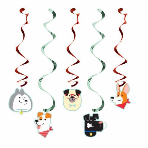 5 Guirlandes Spirales Dog Party