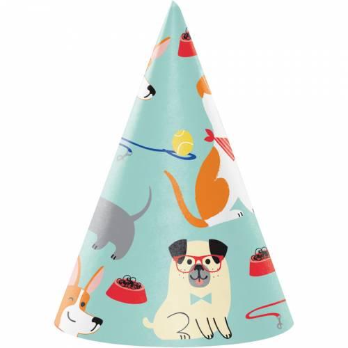 8 Chapeaux d Anniversaire Dog Party