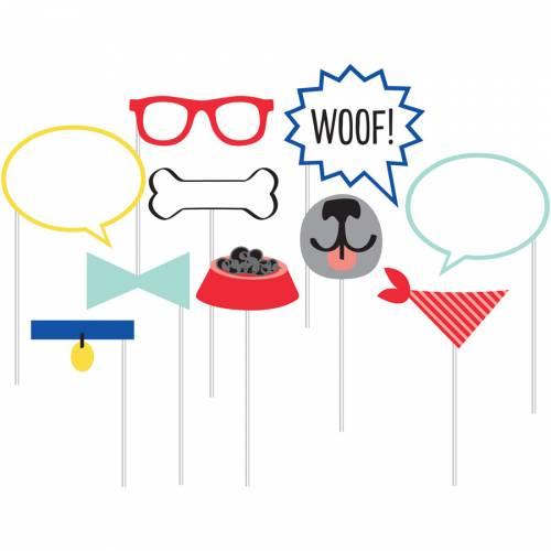 Kit 10 Photobooth Dog Party