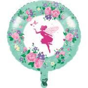 Ballon Gonflé à l'Hélium Fée Florale