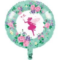 Contient : 1 x Ballon Gonflé à l'Hélium Fée Florale