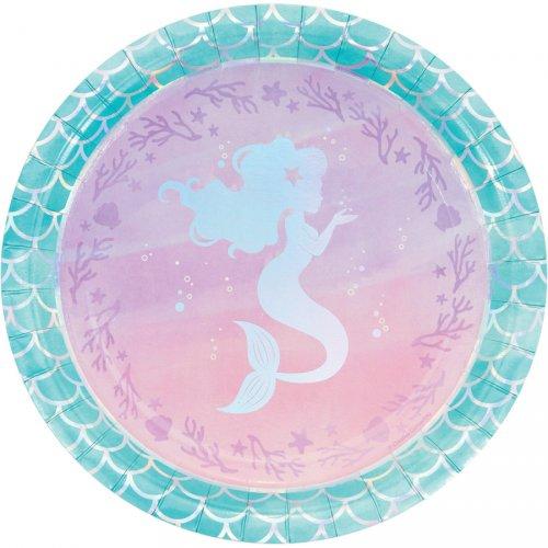 8 Petites Assiettes Sirène iridescente
