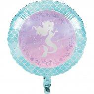 Ballon à plat Sirène iridescente