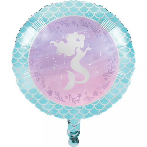 Ballon Gonflé à l Hélium Sirène iridescente