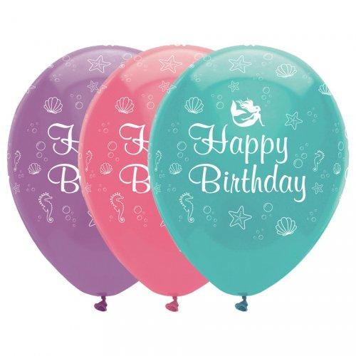 6 Ballons Sirène iridescente