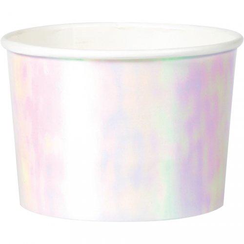 6 Pots à Glace Pastels iridescents