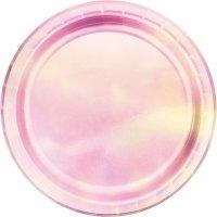 Contient : 1 x 8 Assiettes Pastels iridescents