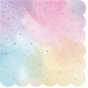 16 Serviettes Pastels iridescent