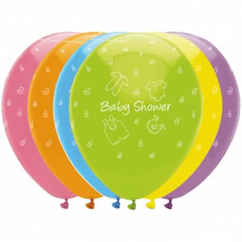 6 Ballons Baby Shower Rainbow