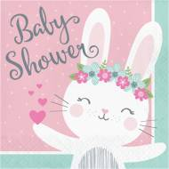 16 Serviettes Lapin Joyeux - Baby Shower