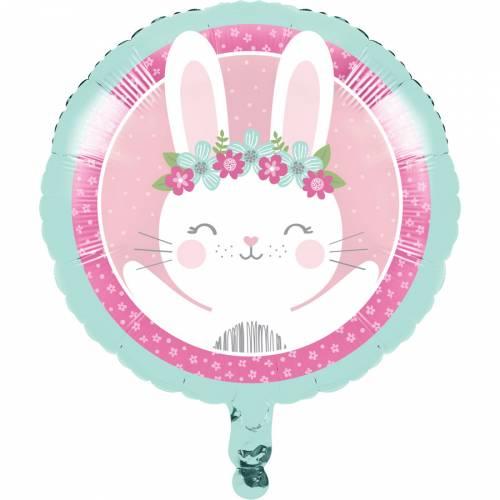 Ballon Gonflé à l Hélium Lapin Joyeux