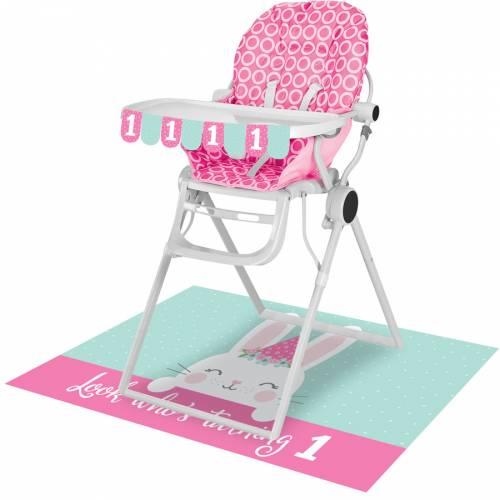 Kit Décorations Chaise Haute Bébé Lapin Joyeux