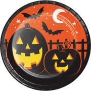 8 Assiettes - Halloween Colors