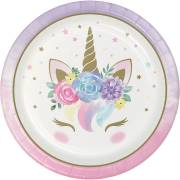8 Assiettes Unicorn Baby