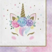Contient : 1 x 16 Serviettes Unicorn Baby