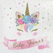 16 Serviettes Unicorn Baby Baby Shower