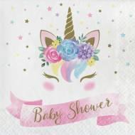 16 Serviettes Unicorn Baby Baby Shower
