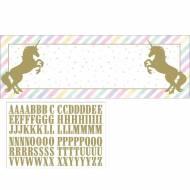 Bannière Personnalisable Unicorn Baby
