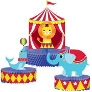 3 Centres de Table - Circus Party