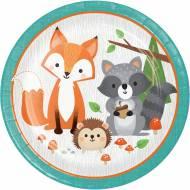 8 Assiettes - Animaux des Bois