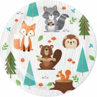 8 Petites Assiettes - Animaux des Bois