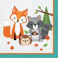 16 Serviettes - Animaux des Bois