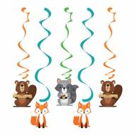 5 Guirlandes Spirales - Animaux des Bois