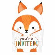 8 Invitations - Animaux des Bois