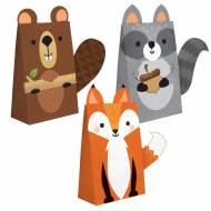 8 Sacs Cadeaux - Animaux des Bois