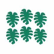 6 Décors en Sucre Feuilles Tropique