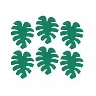 5 Décors en Sucre Feuilles Tropique