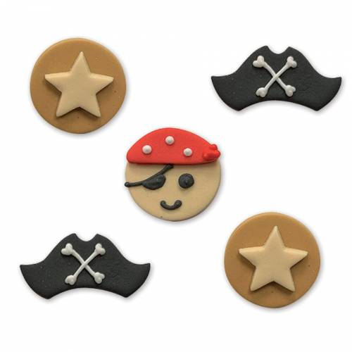 5 Décors en sucre Pirate