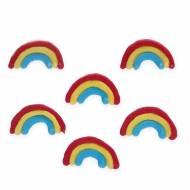6 Décors en sucre Rainbow