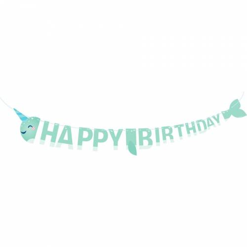 Guirlande Lettre Happy Birthday Narval Party