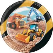 8 Assiettes Construction