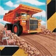 16 Serviettes Construction