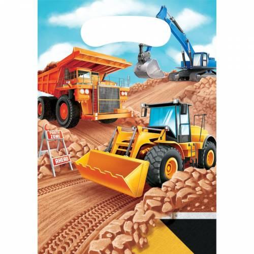 8 Pochettes Cadeaux Construction
