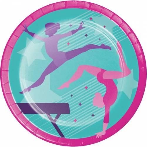 8 Assiettes Gymnastique Party