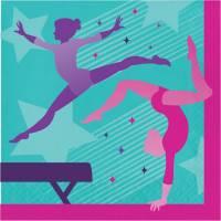 Contient : 1 x 16 Serviettes Gymnastique Party