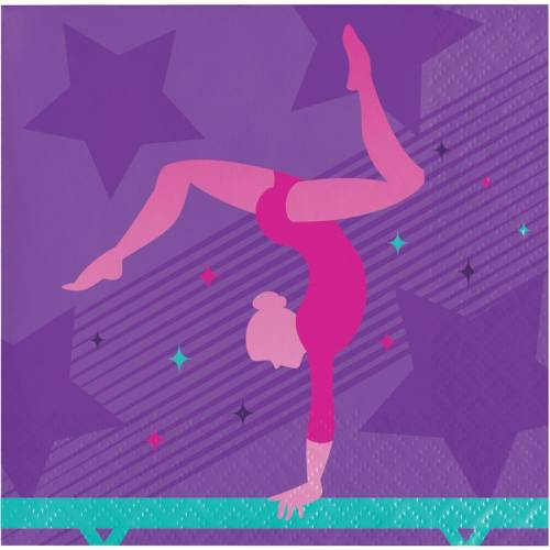 16 Petites Serviettes Gymnastique Party