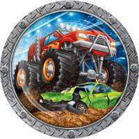 Contient : 1 x 8 Assiettes Monster Truck Rally