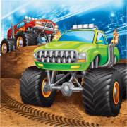 16 Serviettes Monster Truck Rally